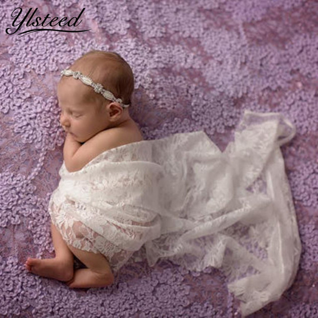 50150cm newborn photography wrap stretch floral lace baby photo wraps blanket newborn swaddle baby