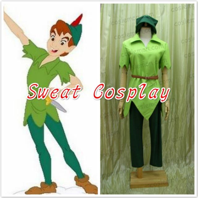 Erwachsene Männer Peter Pan Kostüm Grüne Phantasie Dress Karneval