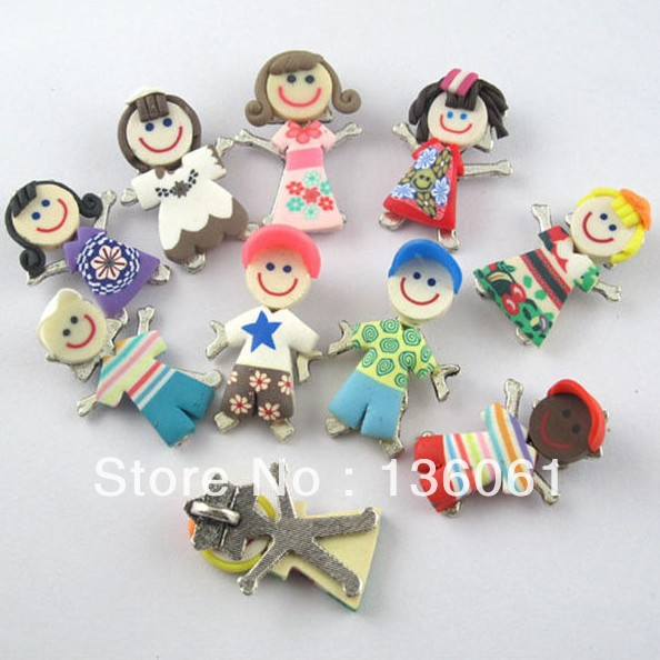 20pcs Mixed Color Polymer Clay 26*12mm Flip Flop Slippers Charms Pendant Crafts