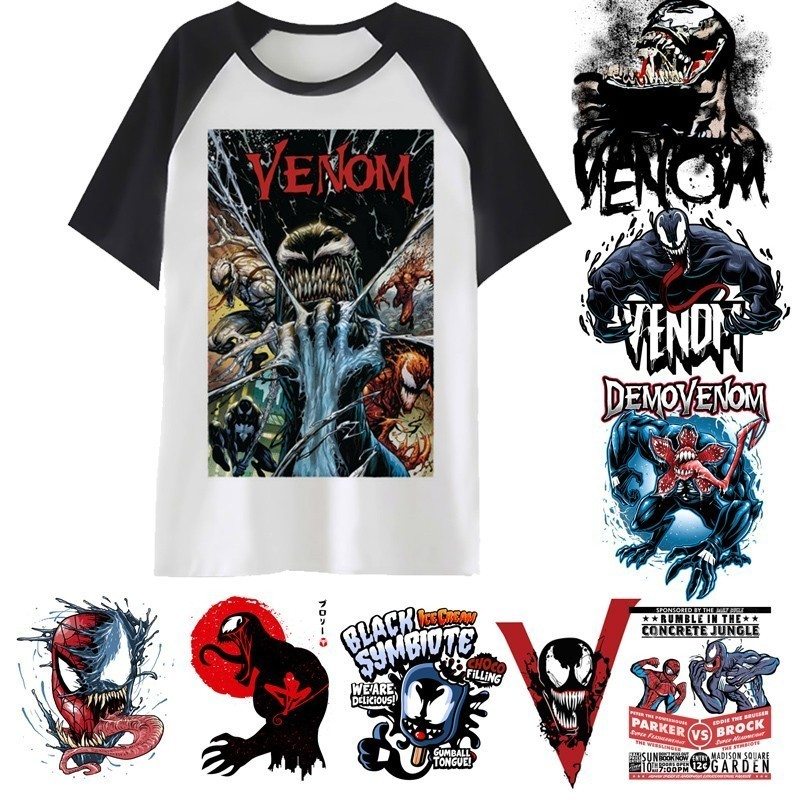 Venom   T     Shirt   Avengers Venom men Printing Man   T  -  shirt   Short Sleeve Spiderman male Cotton Clothing Tops Tee   Shirts