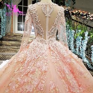 Image 5 - AIJINGYU Wedding Dress Rhinestone Butterfly Shiny Luxury Cheap Lace Sexy Robes Plus Size Boho Ruffle Trim Bridal Gown Sale