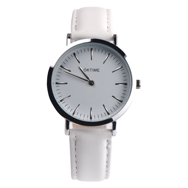 fashion wristwatch women item watches watch femail wrist sport face leather luxury white clock ladies yazole