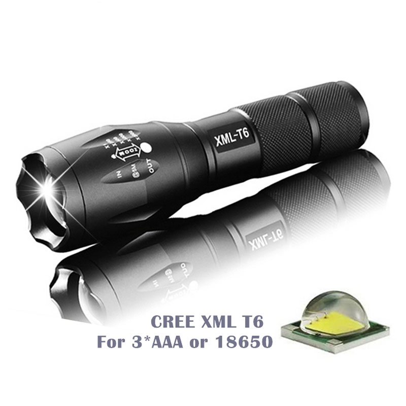 Ultra Bright Waterproof Hand Torch LED Flashlight CREE XML-T6 6000LM Zoomable Camping Hunting Lamp for Outdoor Bike Light 5 Mode uking xml t6 1000lm 5 mode zoomable camouflage flashlight torch