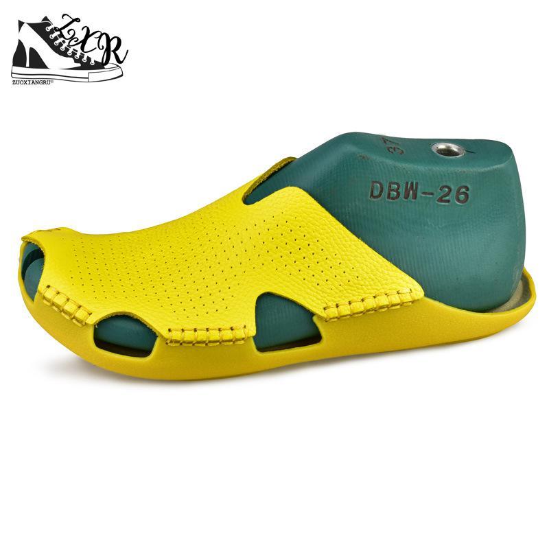 Zuoxiangru 35-45 женские тапочки натуральной кожи Гладиатор тапочки Для женщин Летняя обувь пляжные сланцы; Дамская обувь