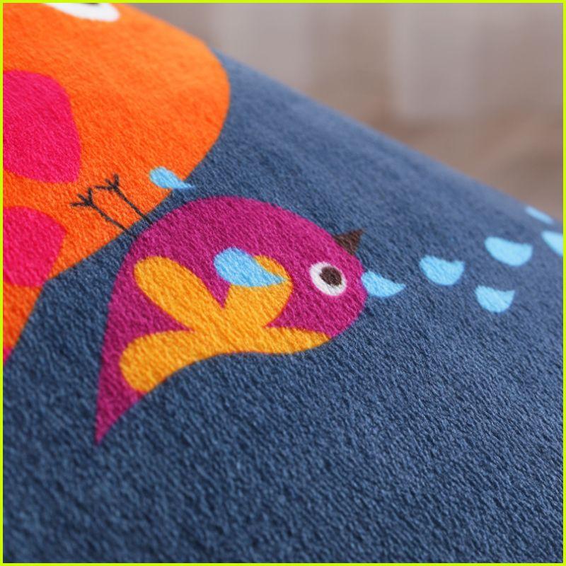 Owl And Elephant Cartoon Print Carpet Kids Living room Game Rug Child bedroom kitchen floor mats Bay window Bedside Carpet