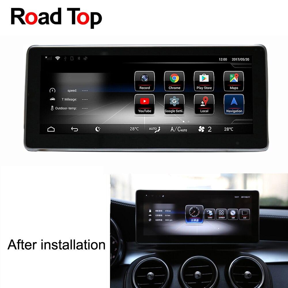 Android 7.1 Autoradio GPS Navigation WiFi Bluetooth Écran Unité de Tête pour Mercedes Benz C180 C200 C220 C30 C350 C400 c450 C63 AMG