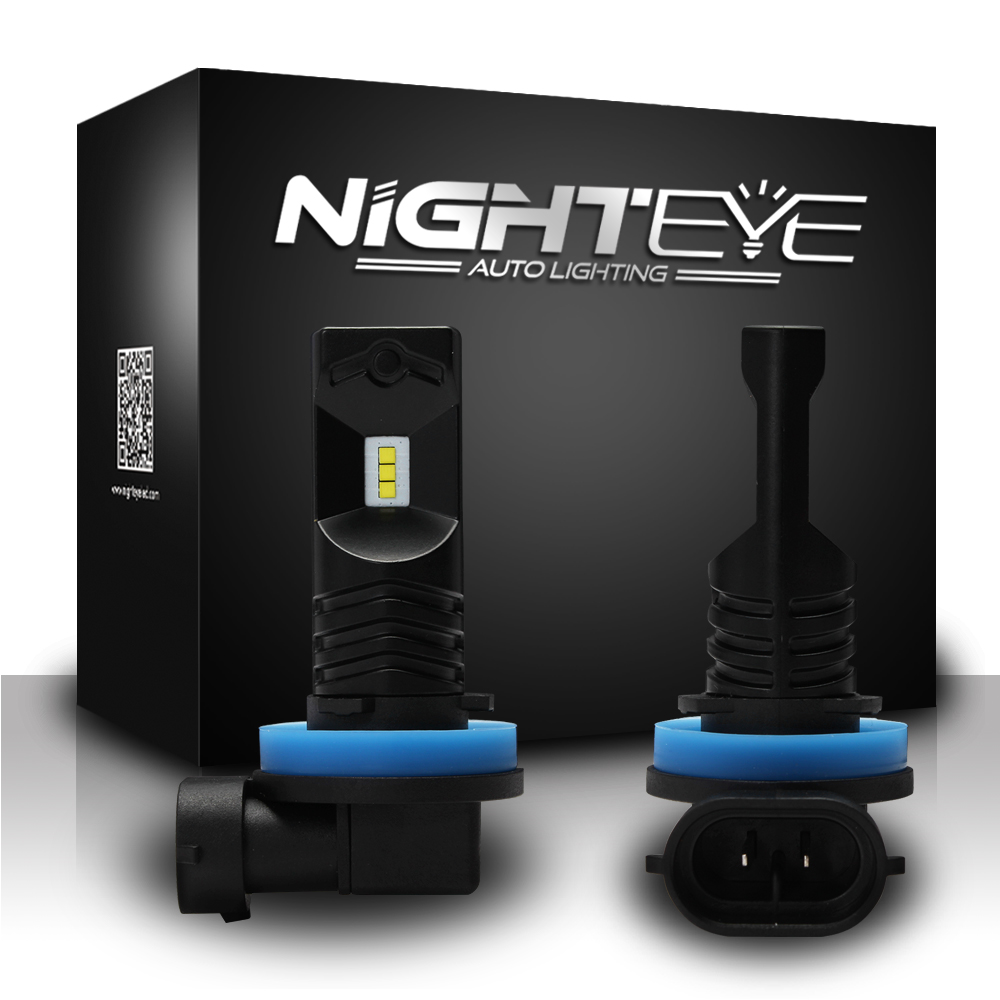NIGHTEYE Voiture H11 Led Phare Ampoules 12 V 80 W/Set 800LM Avec CSP Puces LED Ampoule 6500 K Blanc Brouillard Lampes DRL LED lumières