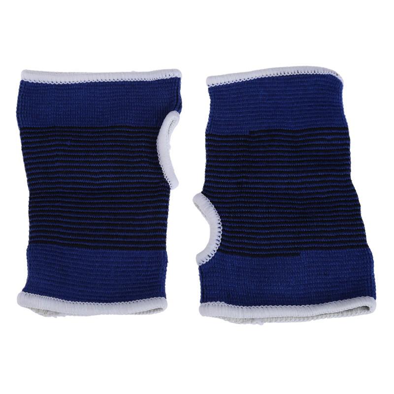 2 palma de pulso mão apoio luva na altura do joelho elástico suporta esporte sweatbands faixas de suor de pulso