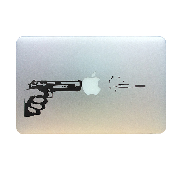 Shooting Gun Decal Vinyl decoration for Macbook air pro 13\