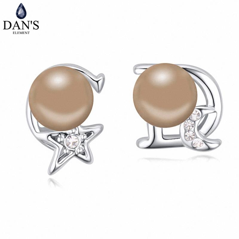 DANS 5 Colors Real Austrian crystals Stud earrings for women Earrings s New Sale Hot Round 120812