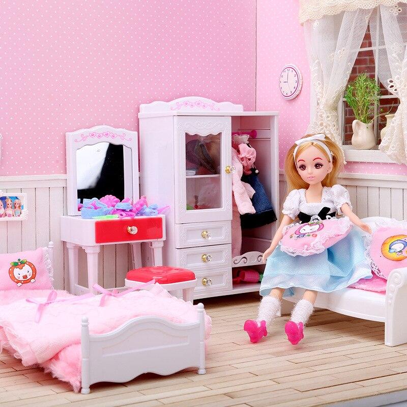 5-i-1 Super Miniatyr Sovrumsmöbler Kombination Dollhouse Toy - Dockor och tillbehör - Foto 2