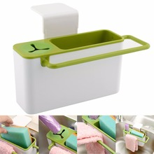 Hot Useful Practical Kitchen Sink Brush Cloth Rack Tools Storage Box Holder Container