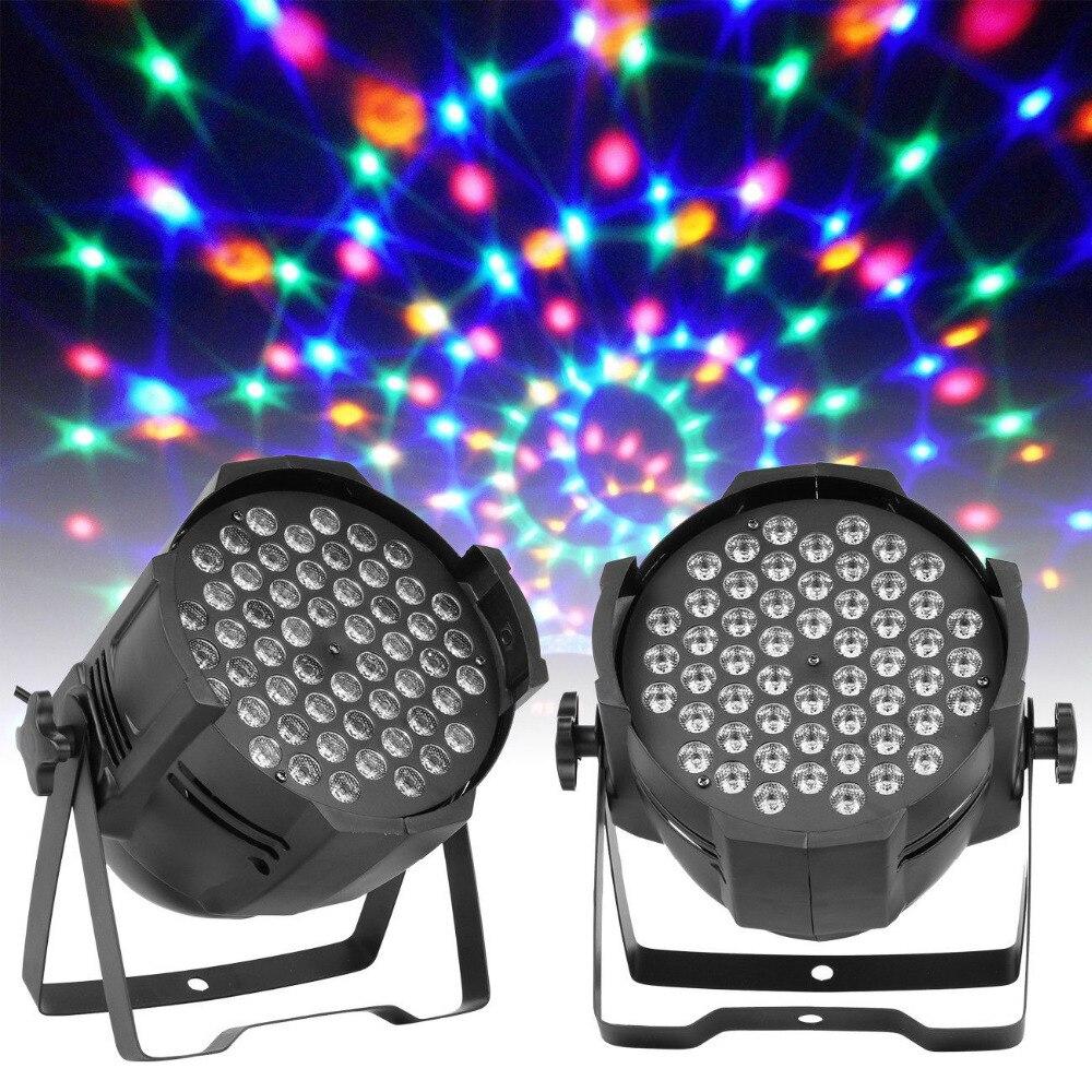 2 pièces 54x3 W Lampe-Perle led DMX512 Par RGBW Uplighter Parti étape effet Lumineux