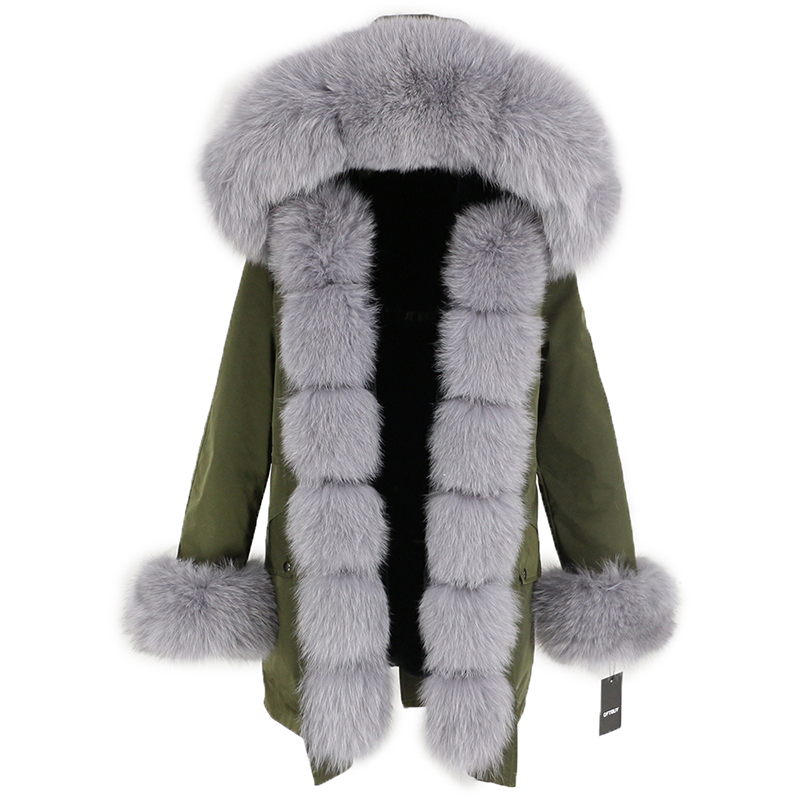 OFTBUY Waterproof Long Parka Winter Jacket Women Real Fur Coat Natural Fox Fur Collar Hood Thick Warm Streetwear Detachable New 113