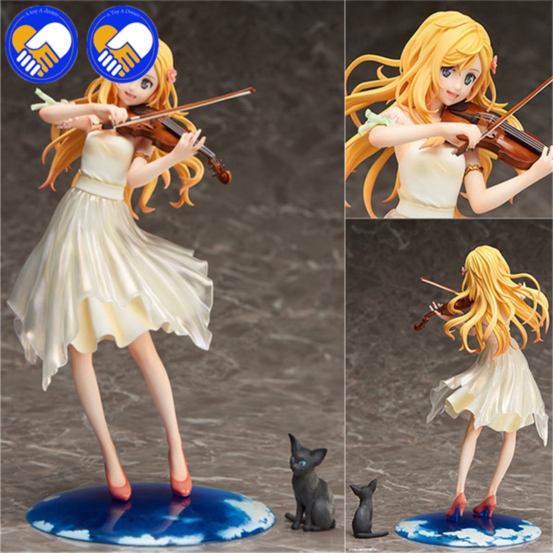 Toys & Hobbies Anime Your Lie In April Figure Kaori Miyazono Action Figure Kaori Holding Violin Toy 20cm Spare No Cost At Any Cost