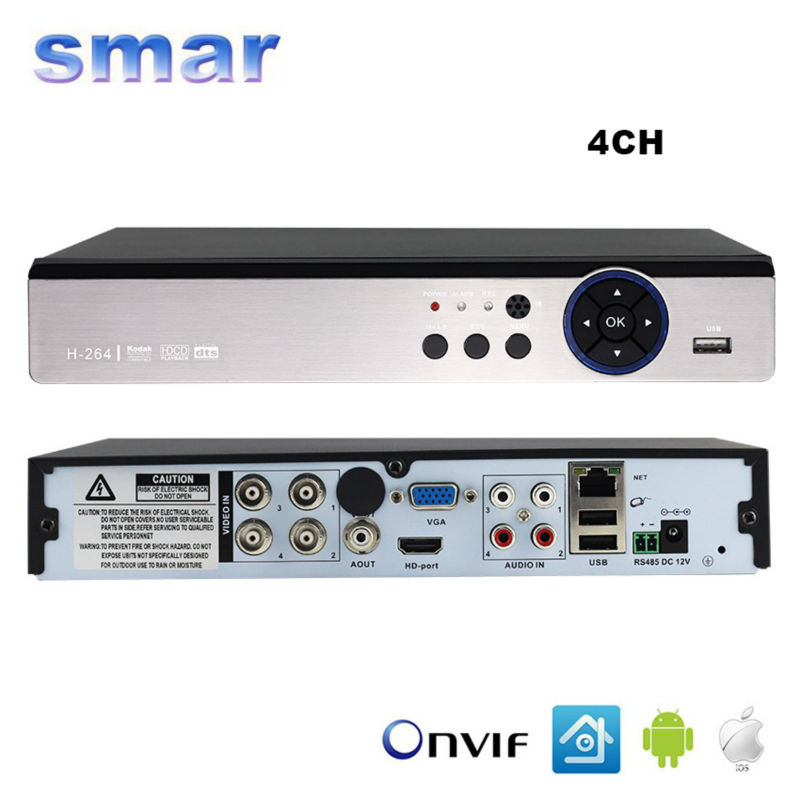 ФОТО Smar 5 in 1 Security CCTV DVR 4CH 8CH AHD 4MP 3MP 1080P H.264 Hybrid Video Recorder for AHD TVI CVI Analog IP Camera Onvif2.3