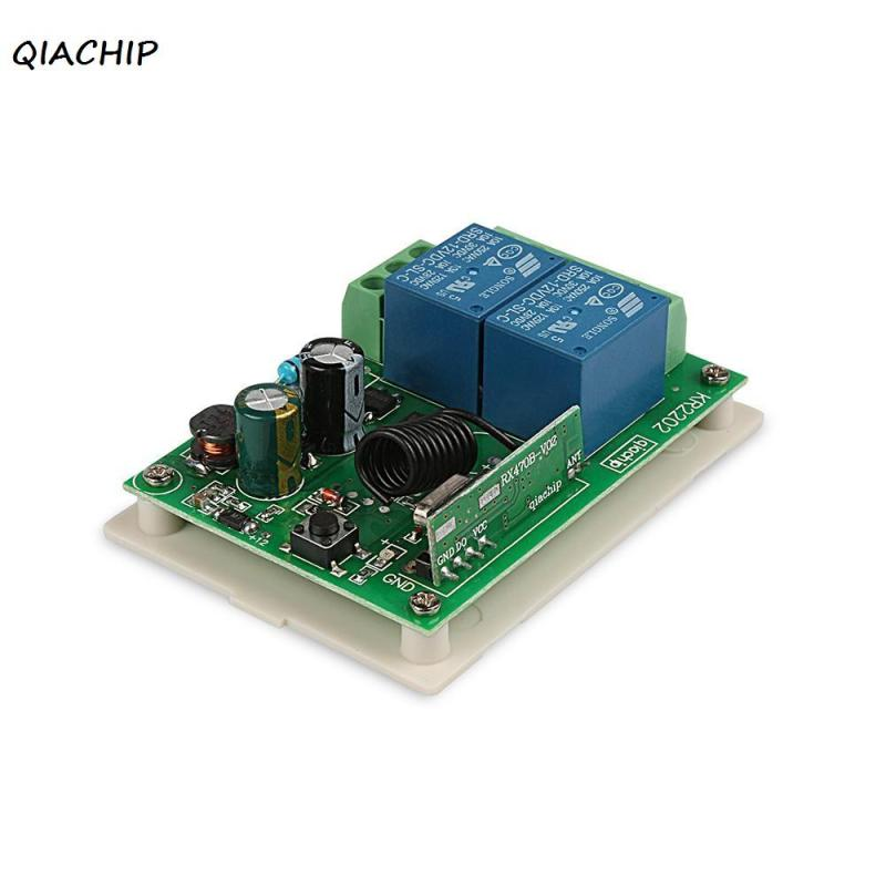 QIACHIP 433MHz AC 220V 2 buttons Wireless Remote Control Switch DIY Receiver Module Support 433 MHz RF Frequency Transmitter H1 binge elec 16 buttons remote controller 433 92mhz only work as binge elec remote touch switch hot sale