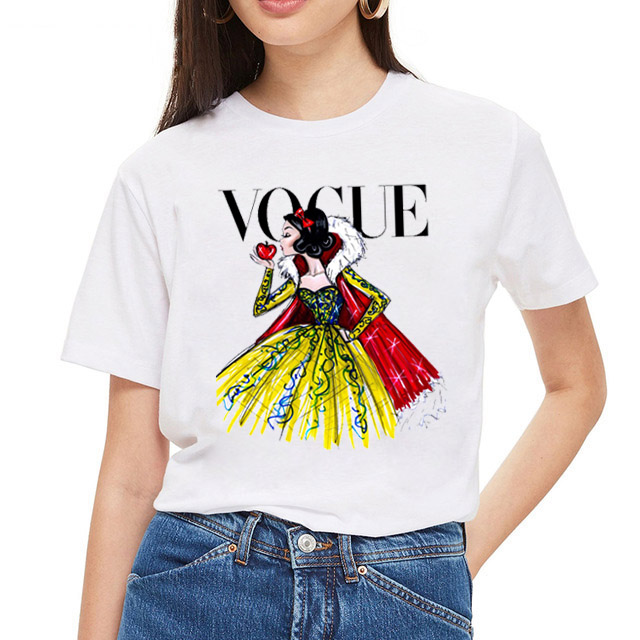 ZOGANKI Summer Harajuku New Womens T Shirt Cartoon Printed Shirts Women Casual Punk Tee Tops Female Fashion T-shirts