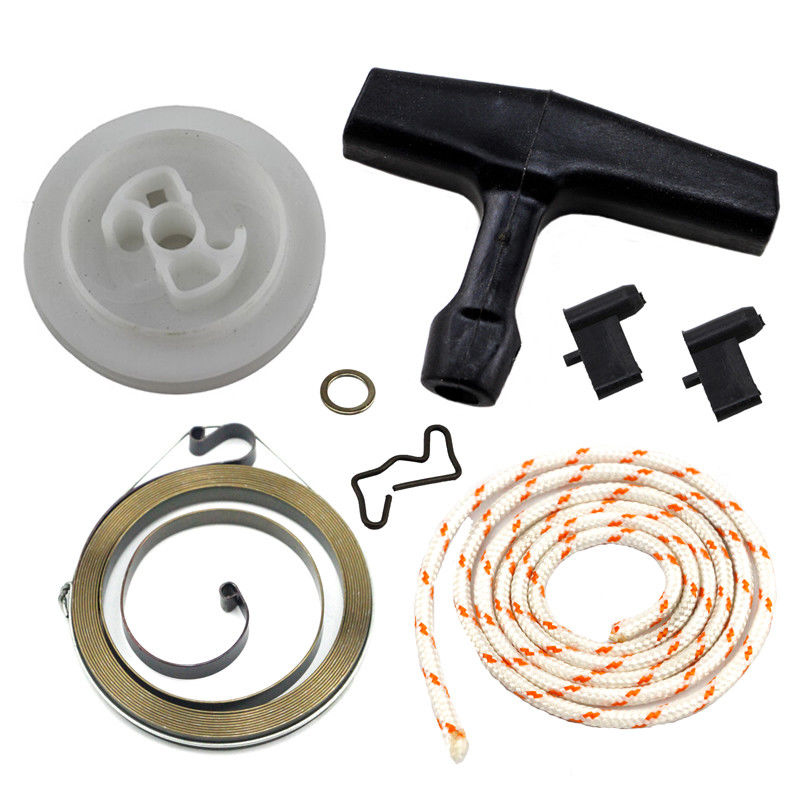 Replacement Set Recoil Starter Rewind Handle Pulley Spring For Stihl 034 036 044 046 MS340 MS360 MS440 Chainsaw