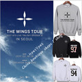 BTS v moletom anel blusa manga comprida jumper kpop objetos WINGS Plates Youth Concert Long Sleeved sweatshirt