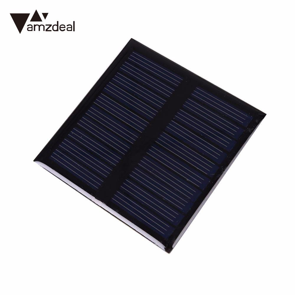 amzdeal New 0.45W 5V Solar Panel Polycrystalline Board Outdoor Travelling DIY Powerbank Charger Power Supply Module Solar Cell