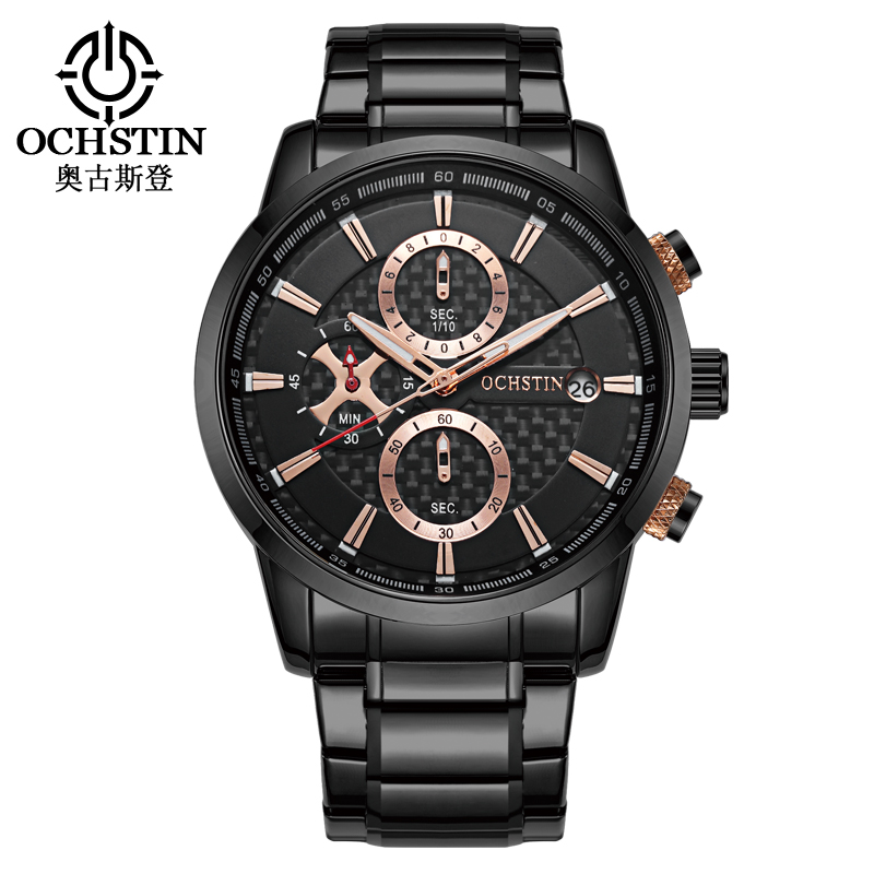 OCHSTIN Stainless Steel Men Watch Top Brand Luxury Business Quartz Wristwatches Auto Date Sport Military Watch Relogio Masculino