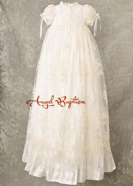 bene fuori x vari stili 100% di alta qualità US $99.0 |Lungo bianco/avorio pizzo bambino neonato ragazzi ragazze vestito  del battesimo battesimo abito abito formale in Lungo bianco/avorio pizzo ...