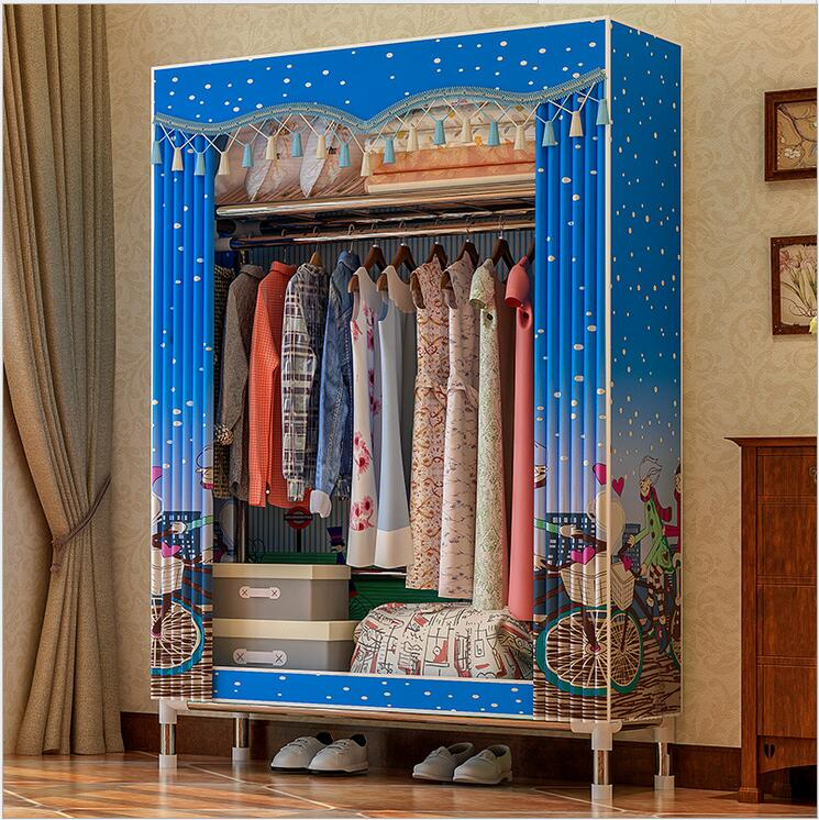 Cloth art Wardrobe Closet Large Simple Wardrobe Cabinets Simple Folding Reinforcement Receive Clothe storage Cabinet купить в Москве 2019