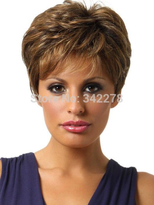 moda de las nuevas mujeres para mujer corte peinado pelucas sintticas pelo corto ondulado pelucas para mujeres peruca sintetica en pelucas de extensiones