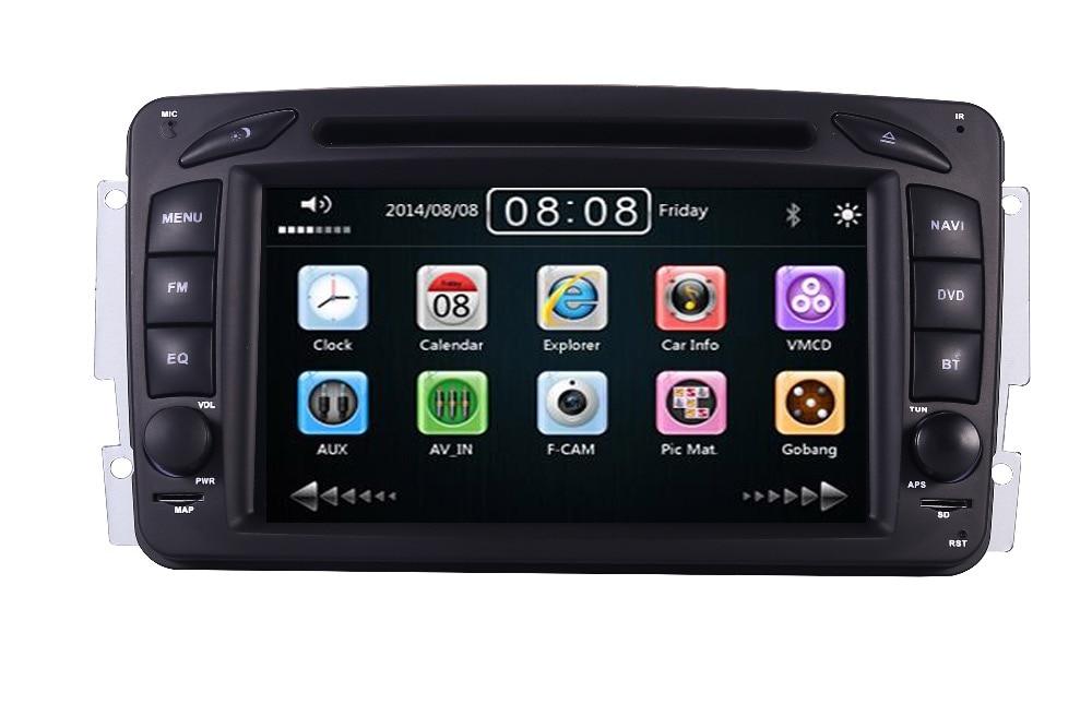 2din 7 LECTEUR DVD de VOITURE Pour Mercedes Benz W209 W203 W168 W463 Viano W639 Vito Vaneo 3g GPS BT Radio USB SD Sans Canbus 8 gb Carte