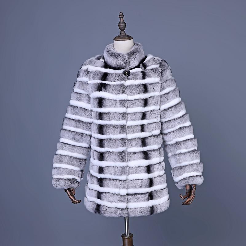 2018 Real Fur Coat Winter Women Rex Rabbit Fur Jackets Warm Winter Clothes Women Genuine Fur Slim Outerwear For Ladies Girls