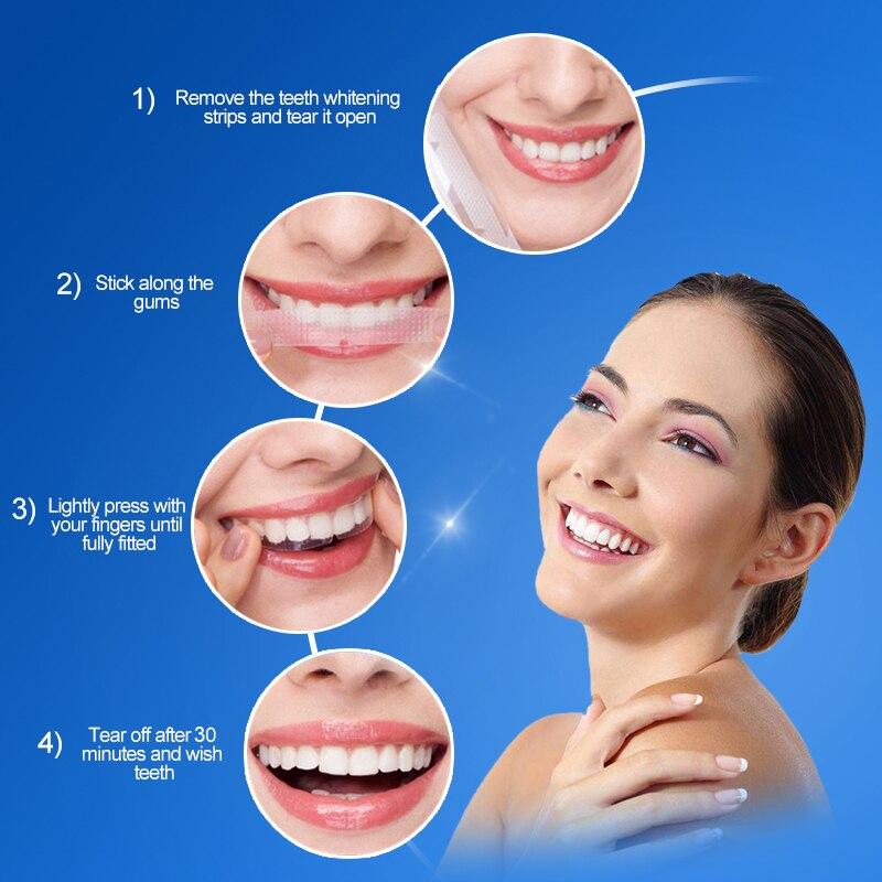 2Pcs/pack Home Teeth Whitening Strips Bleaching Oral Hygiene Care for False Teeth Veneers Perfect Dentist TSLM2(China)