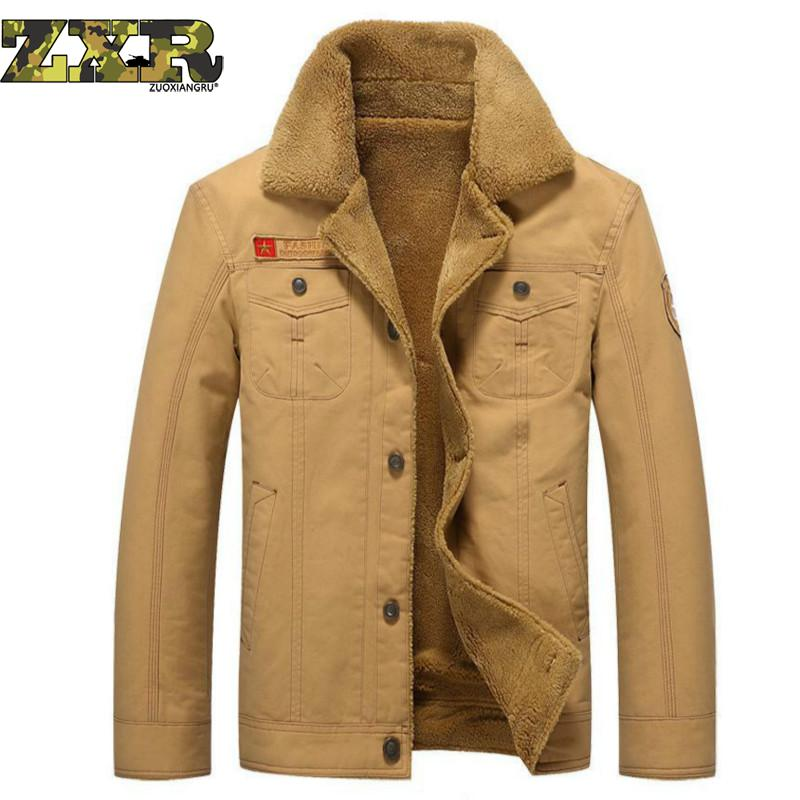 Zuoxiangru Military jacket men coat Army Velvet thickening Cotton air force 1 Bomber jacket men coat Winter jacket men winter coat men s youth thickening long men s cotton cotton sweater men s tide winter coat jacket