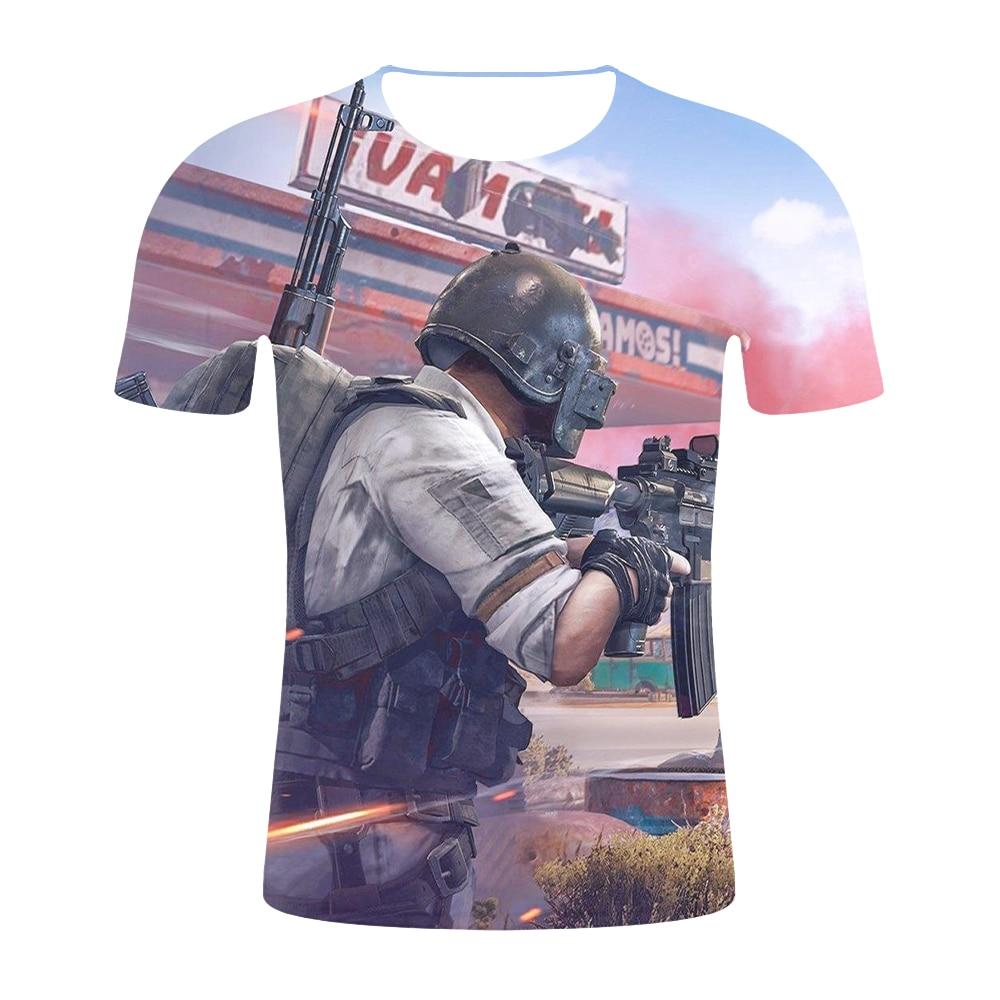 af21a36884 2019 Fashion Casual 3D Tshirt Men Harajuku PUBG 3D T shirts 3D Game PUBG T-Shirt  Summer New T Shirt Men's/Women tees male Tops