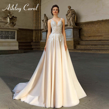 Ashley Carol Sexy Wedding Dresses 2019 A-Line Bride Dress