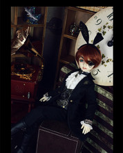 Mr. Black Rabbit Outfit for BJD Doll 1/4 MSD Luts IP Doll Clothes LF61