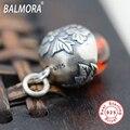 Único 100% Real Pure 925 Sterling Silver Jóias Vintage Bronze Red Garnet Pingentes para Colares Mulheres Homens Acessórios SY11222