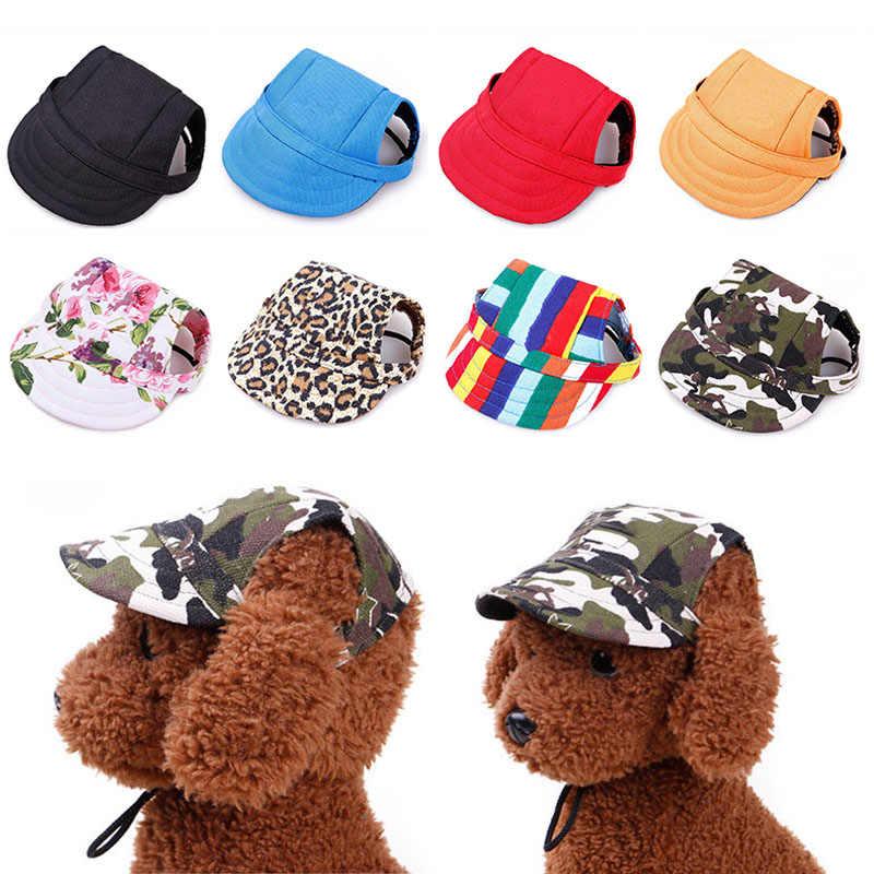 Zwierzęta domowe są czapka z daszkiem czapki z daszkiem dla małych i dużych psów Sport płótno obroża dla kociaka pieska z daszkiem dla psa daszek z otworami na uszy na świeżym powietrzu dla zwierząt domowych dostaw