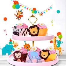 QIFU Latex Animal Balloons Birthday Jungle Party Safari Baloons Animals Decorations Kids