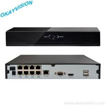 8CH NVR PoE Onvif Full HD 1080 P 48 V Real All-in-one de Vídeo en Red grabadora de Cámaras IP PoE P2P Cloud Service XM xmeye POE NVR