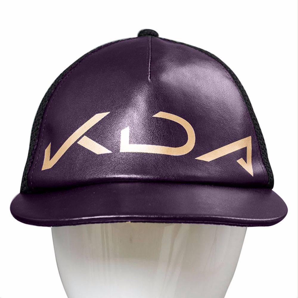 LOL Cosplay The Rogue Assassin Akali Cap Hat K/DA Cosplay Adult Halloween Props KDA Logo Baseball Cap Women Men