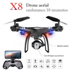 Quadcopter High Performance 360 degree Rolling HD Camera FPV WIFI Constant Height Drone Altitude Hold Endurance 18 Minutes