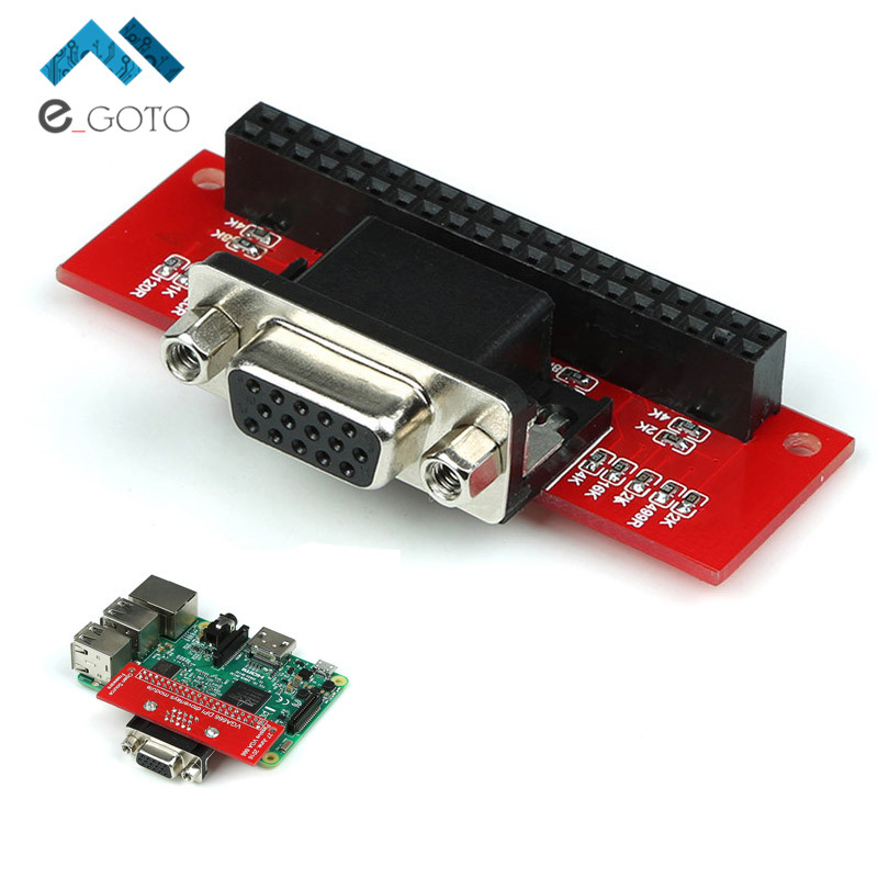 EP-0073 VGA666 DPI dtoverlays Module Adapter Board Gert-VGA For Raspberry Pi 3B / 2B / B+