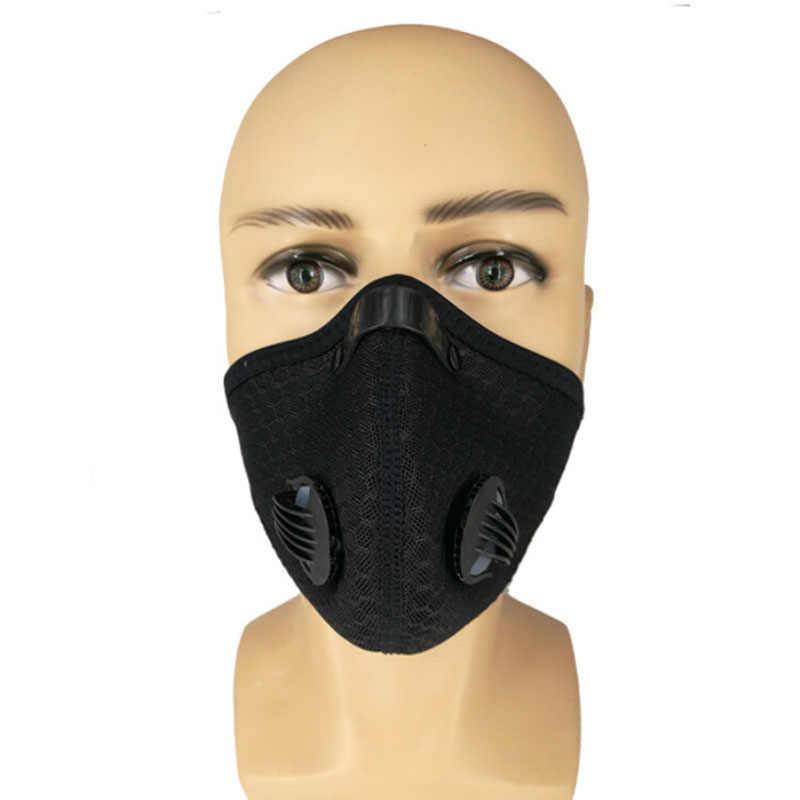 2019 Anti Dust Training Masker Fietsen Maskers Met Filter Half Gezicht Carbon Mountainbike Sport Road Fietsen Maskers Gezicht Cover