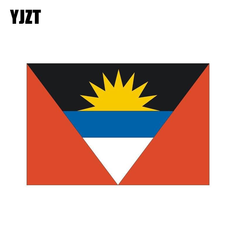 YJZT 14,2 см * 9,2 см креативная наклейка на шлем Антигуа и Барбуда наклейка на автомобиль 6-0805