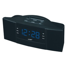 AM FM Radio Clock Four Color Large LED Backlight Snooze Alarm Clock EU Plug Home Table Times Gift For Parents Friends