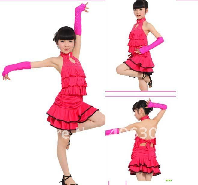 Free shipping.hight quality,Lycra Girl's latin dress costume kids stage dancing dress,suitable for latin,belly,rumba,cha-cha