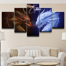 Fire & Ice Movie HD Print Picture Painting 5 Pieces Wall Art Canvas Living Room Artwork Home Decor