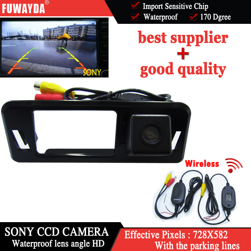 FUWAYDA Wireless SONY CCD Chip Sensor Special Car Rear View Reverse Backup Mirror Image  ...
