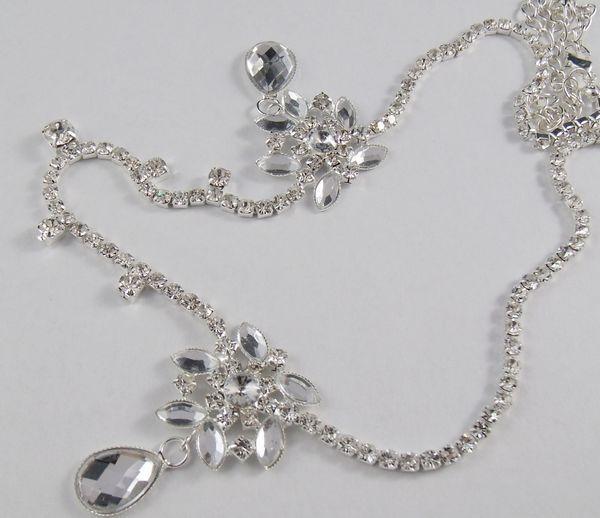 Hot Sale Kristal Wanita Dahi Headband Kepala Rantai Topi Baja Berlian - Perhiasan fashion - Foto 3